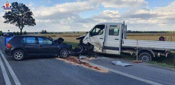 Wypadek na drodze krajowej 19