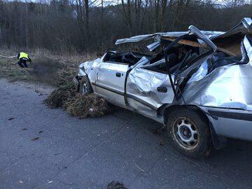Wypadek na trasie Biedowo-Barczewko