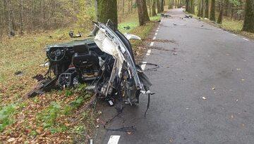 Wypadek samochodowy Audi A8