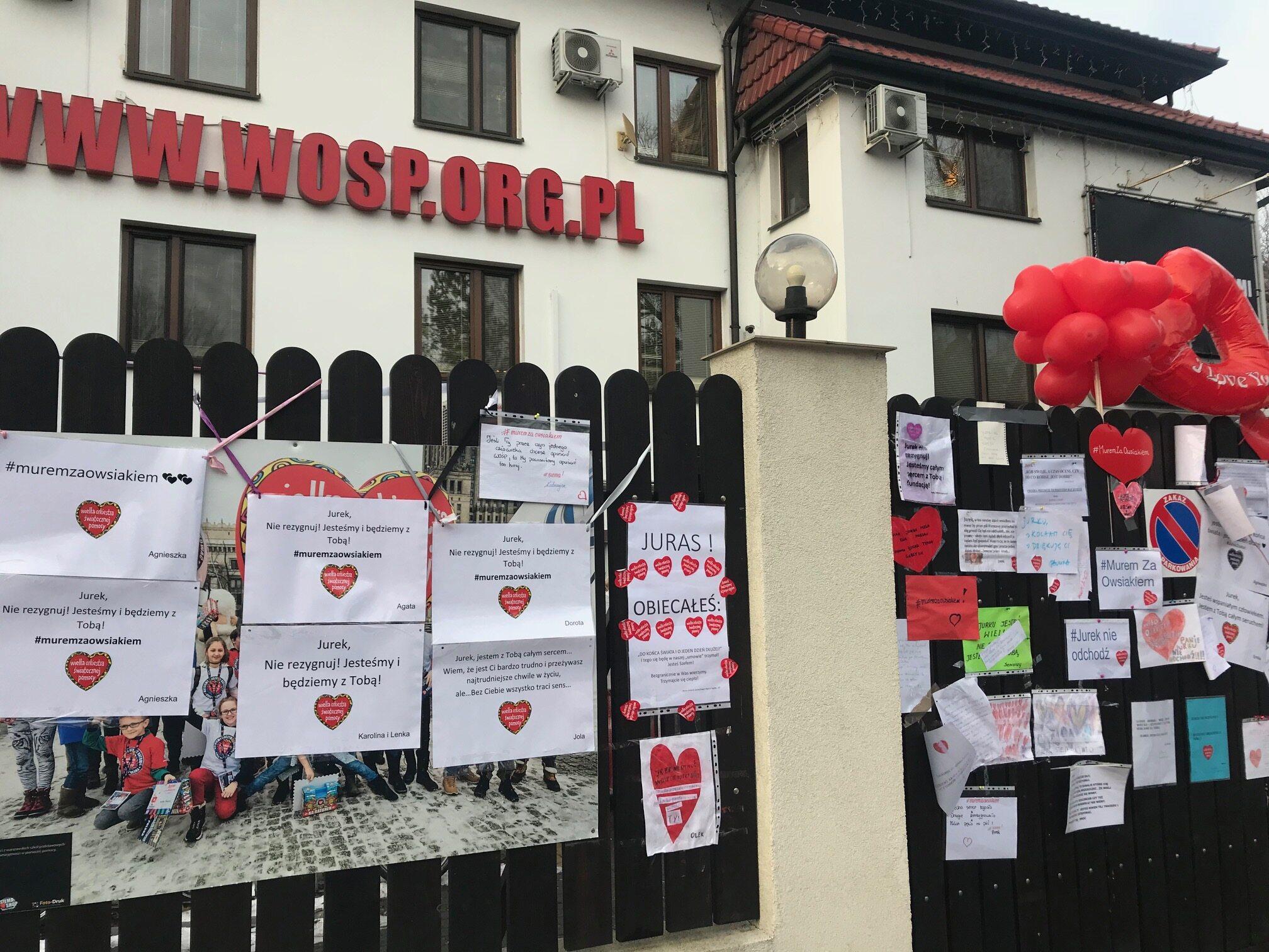 Wyrazy poparcia dla Jurka Owsiaka i WOŚP