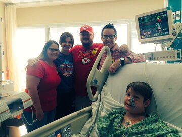 Xavier Cunningham w szpitalu