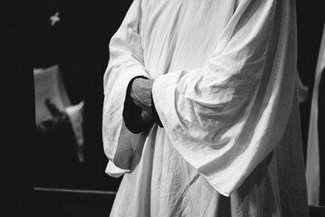 Zakonnik z klasztoru dominikanów, zdjęcie ilustracyjne