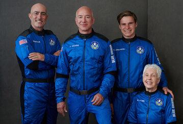 Załoga pierwszego loty załogowego Blue Origin