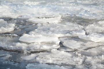 Zamarznięty lód, zdjęcie ilustracyjne
