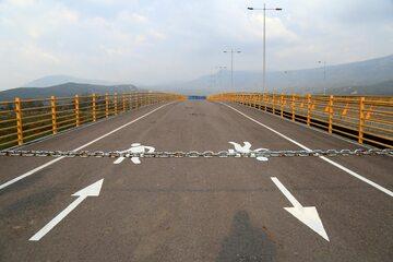 Zamknięta granica Wenezueli z Kolumbią. Zdjęcie ilustracyjne