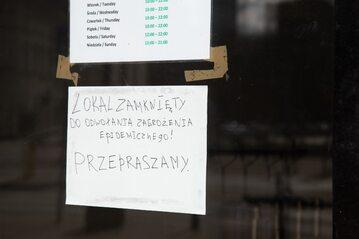 Zamknięta restauracja, zdjęcie ilustracyjne