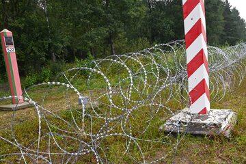 Zasieki na granicy polsko-białoruskiej