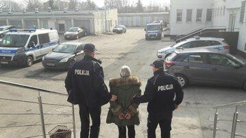 Zatrzymana przez policję
