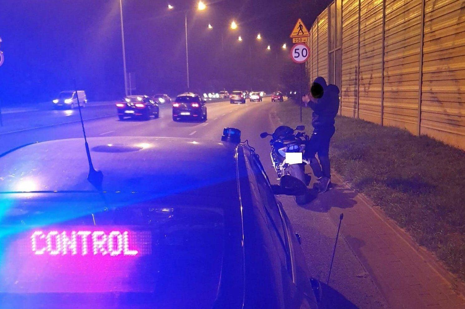 Zatrzymany motocyklista w Łodzi