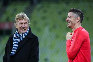 Zbigniew Boniek i Robert Lewandowski