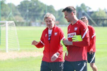 Zbigniew Boniek i Wojciech Szczęsny
