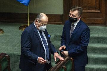 Zbigniew Rau i Łukasz Schreiber