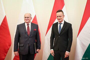 Zbigniew Rau i Péter Szijjártó