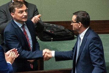 Zbigniew Ziobro i Mateusz Morawiecki