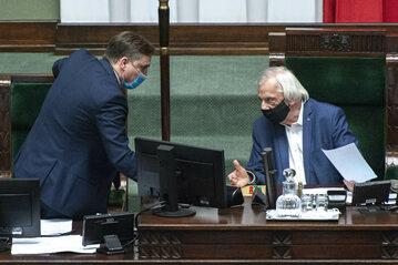 Zbigniew Ziobro i Ryszard Terlecki