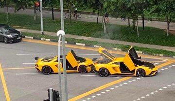 Zderzenie dwóch Lamborghini