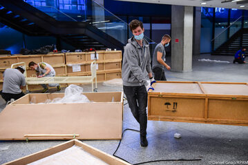 Zdjęcia z budowy szpitala na PGE Narodowym