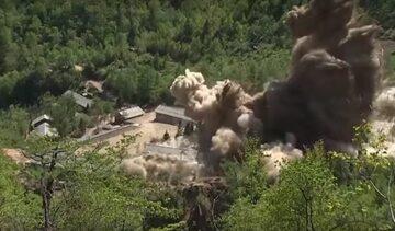 Zdjęcia z wyburzania poligonu w Punggye-ri