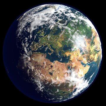 Zdjęcie satelitarne Ziemi