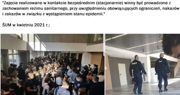 Zdjęcie stłoczonych studentów trafiło do sieci