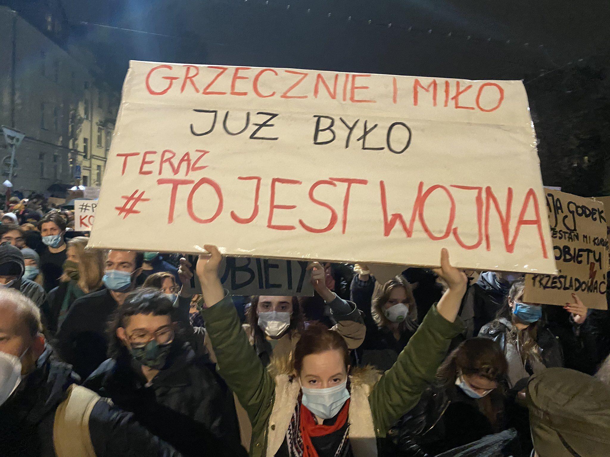 Zdjęcie z piątkowych protestów