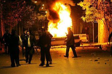 Zdjęcie z protestu w Iranie