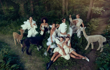 """Zdjęcie z sesji z alpakami w """"Top Model"""""""