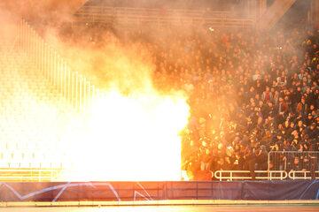 Zdjęcie z wtorkowego meczu LM pomiędzy AEK Ateny i Ajaksem Amsterdam