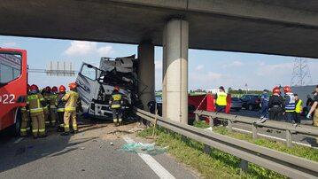 Zdjęcie z wypadku na S8