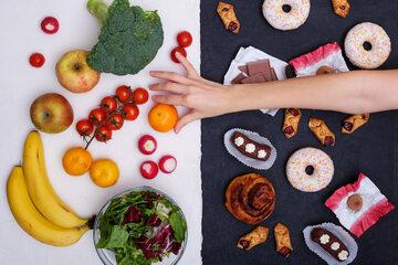 Zdrowe odżywianie - ilustracja