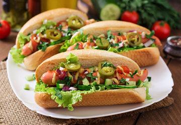 Zdrowy hot dog
