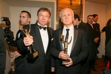Zenon Laskowik (z lewej) z kabaretu Tey