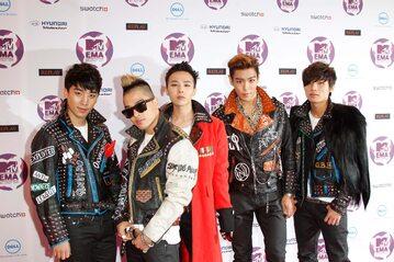 Zespół Big Bang, pierwszy z lewej - Seungri