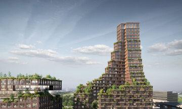 Zielony wieżowiec w Kopenhadze