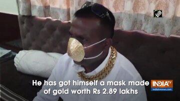 Złota maska. Kadr z indyjskiej telewizji