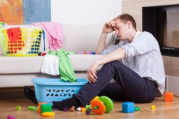 Zmęczony ojciec - zdjęcie ilustracyjne