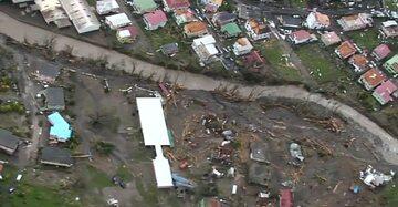 Zniszczenia na Dominice po przejściu huraganu Maria