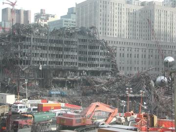 Zniszczenia po ataku na WTC