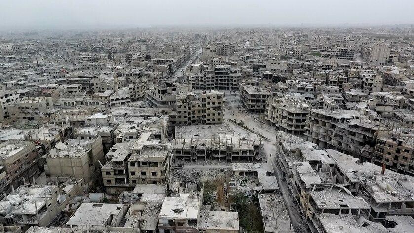 Zniszczenia po wojnie w Syrii