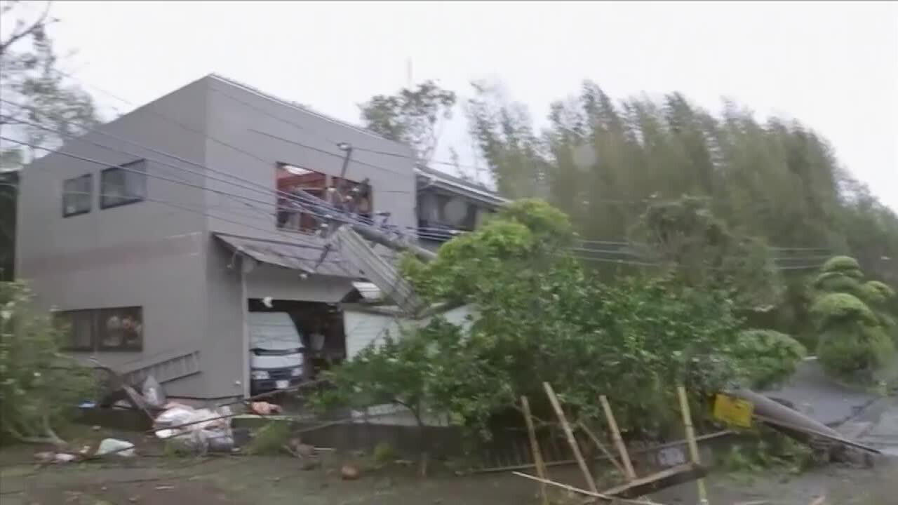 Zniszczenia w prefekturze Chiba