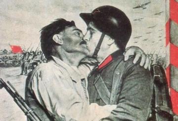 Żołnierz Armii Czerwonej i chłop. Stały element propagandy sowieckiej