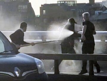 Zrzut ekranu z nagrania z London Bridge