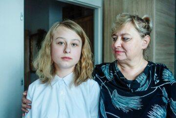 Zuzanna Sałaszewska z mamą