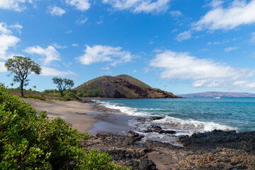 Zwykły wygląd wyspy Maui na Hawajach