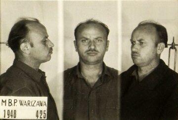 """Zygmunt Szendzielarz """"Łupaszko"""" po aresztowaniu w 1948 roku"""